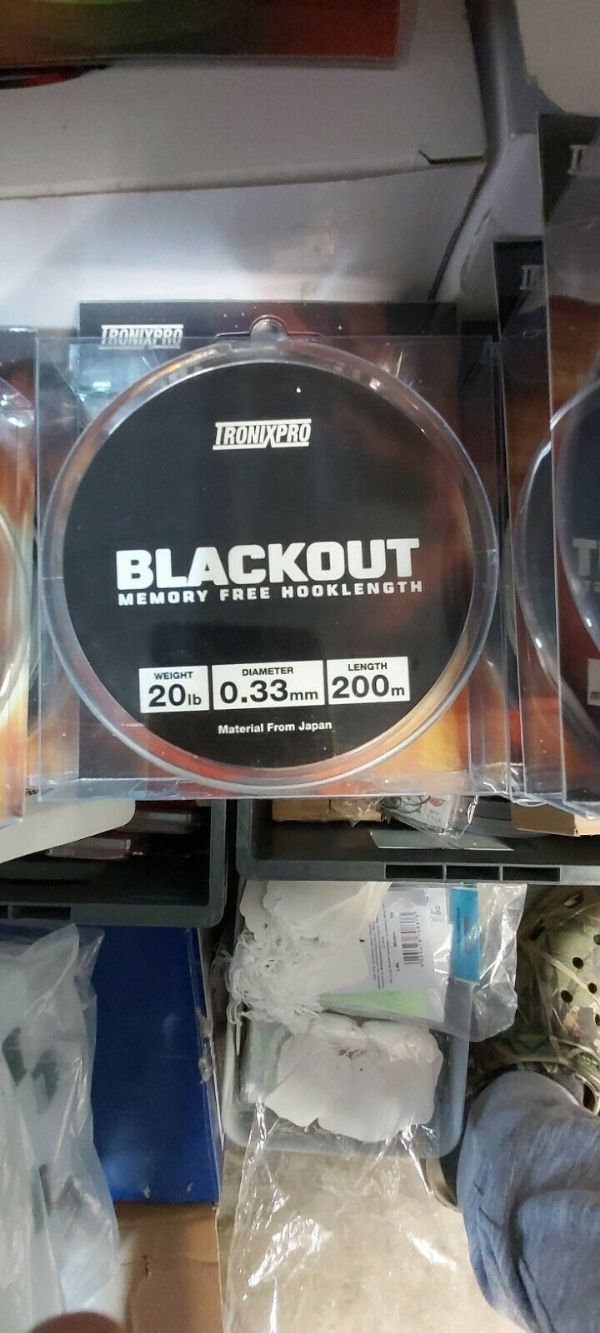 TronixPro Blackout - Memory Free Hooklength 20lb, 0.33mm, 200mts